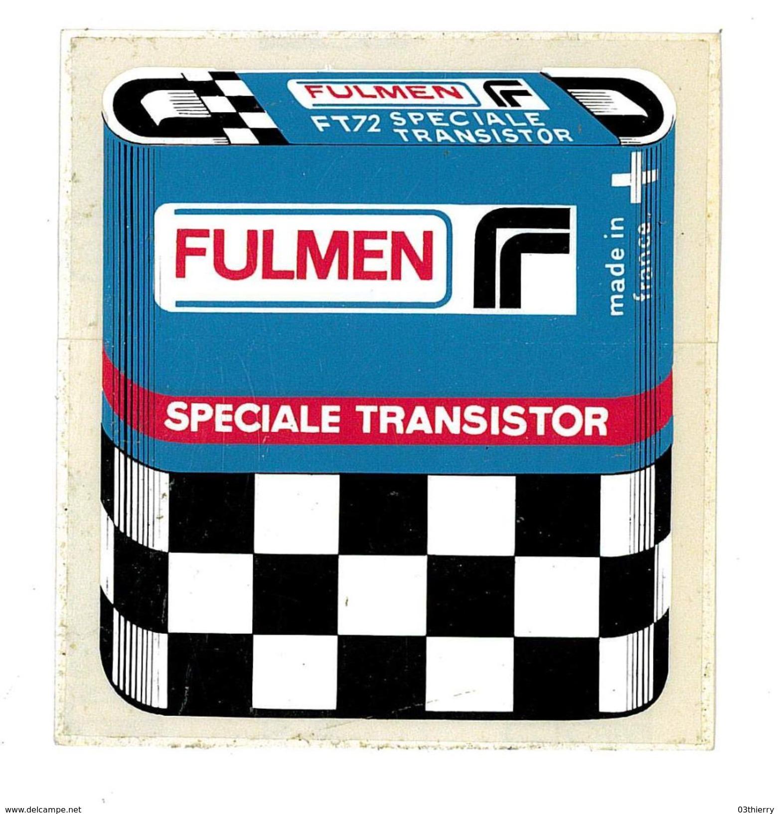 AUTOCOLLANT PILES FULMEN SPECIALE TRANSISTOR - Stickers