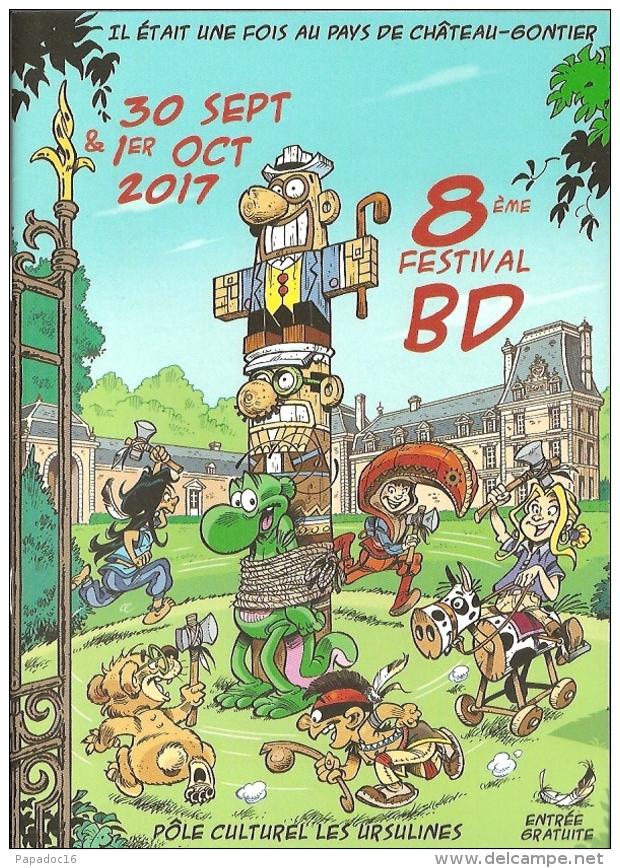 BD - Programme - 8ème Festival BD - Château-Gontier 30 Sept & 1er Oct 2017 [ill. Roger Widenlocher] - Other