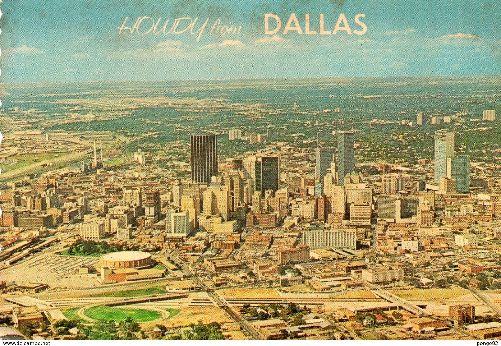 Cpsm 1969 , Vue Générale DALLAS,  Timbre Via Air Mail 13c Kennedy (52.41) - Dallas