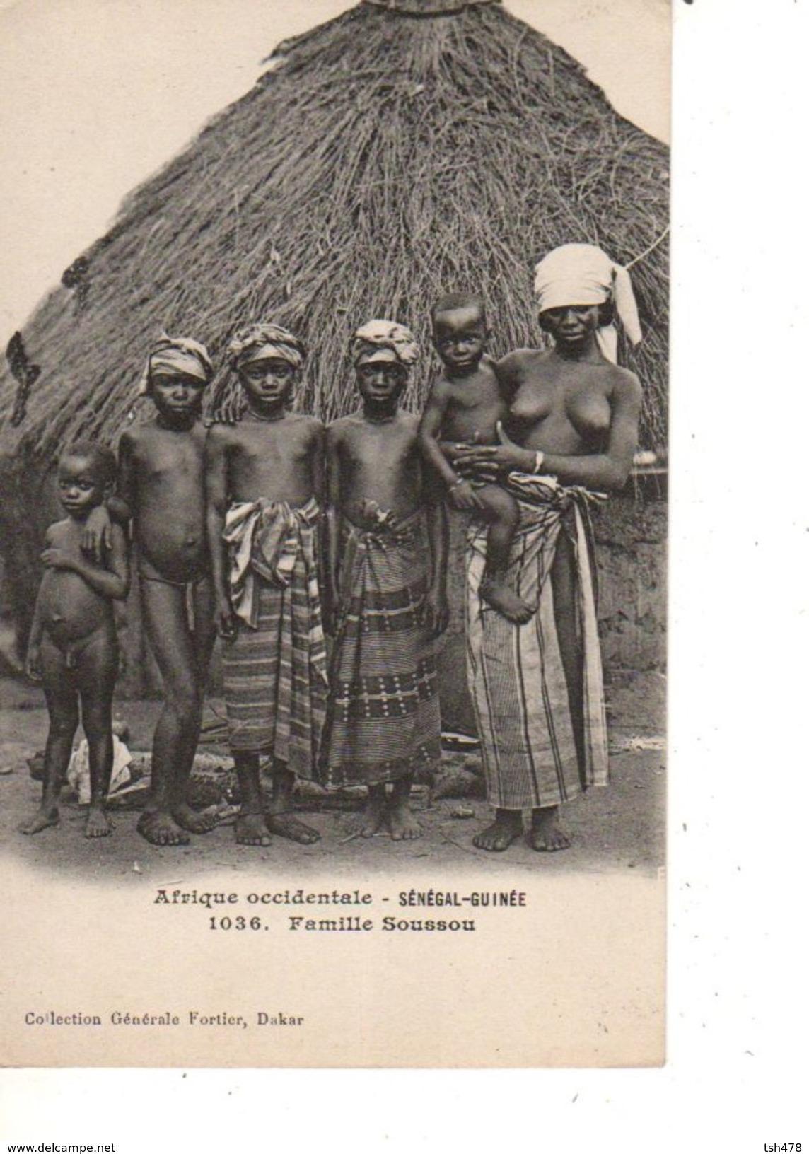 SENEGAL-GUINEE--famille Soussou--afrique Occidentale--( NUE )---voir 2 Scans - Guinée Française