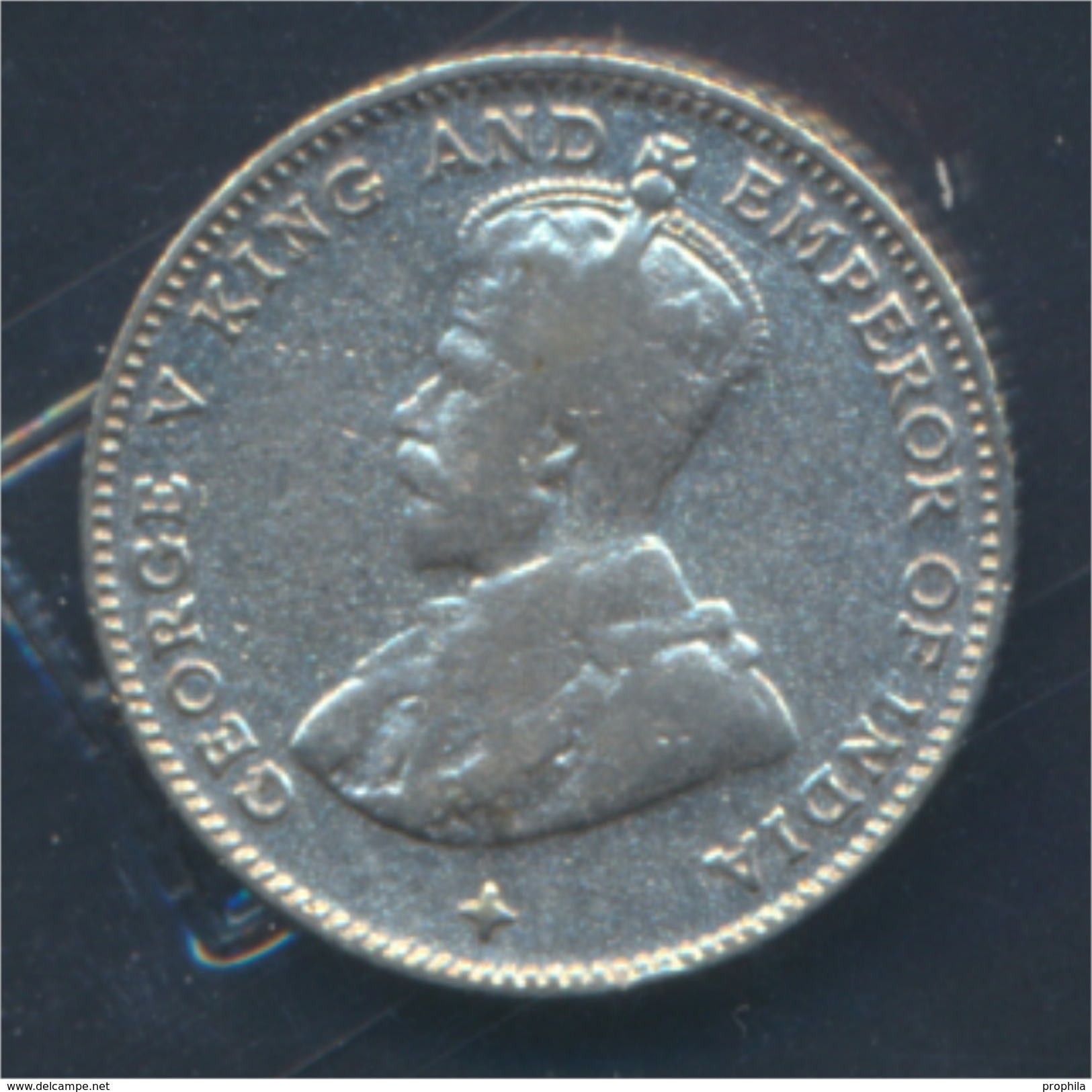 Straits Settlements KM-Nr. : 29 1919 Sehr Schön Silber 1919 10 Cents George V. (8977120 - Malaysie