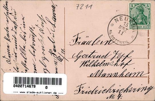 Frittlingen (7211) Fleischwarenhandlung Und Gasthaus Zur Krone 1911 I- - Militaria