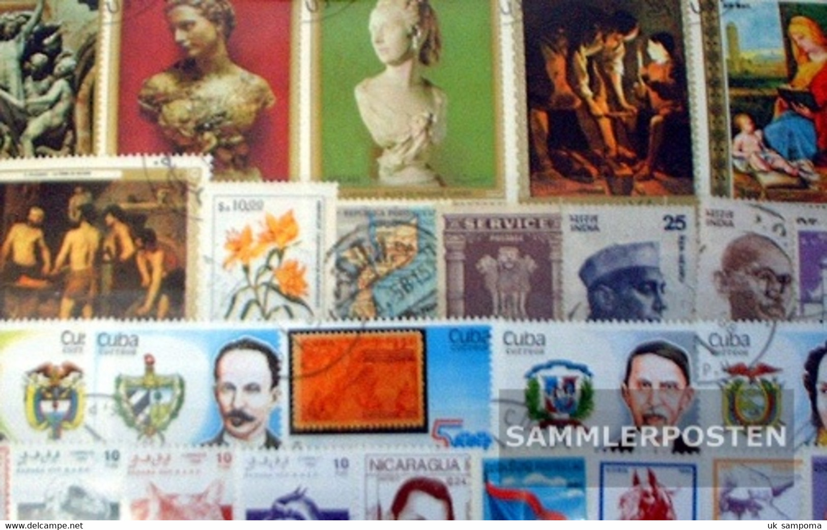 All World 500 Different Stamps  Overseas - Stamps