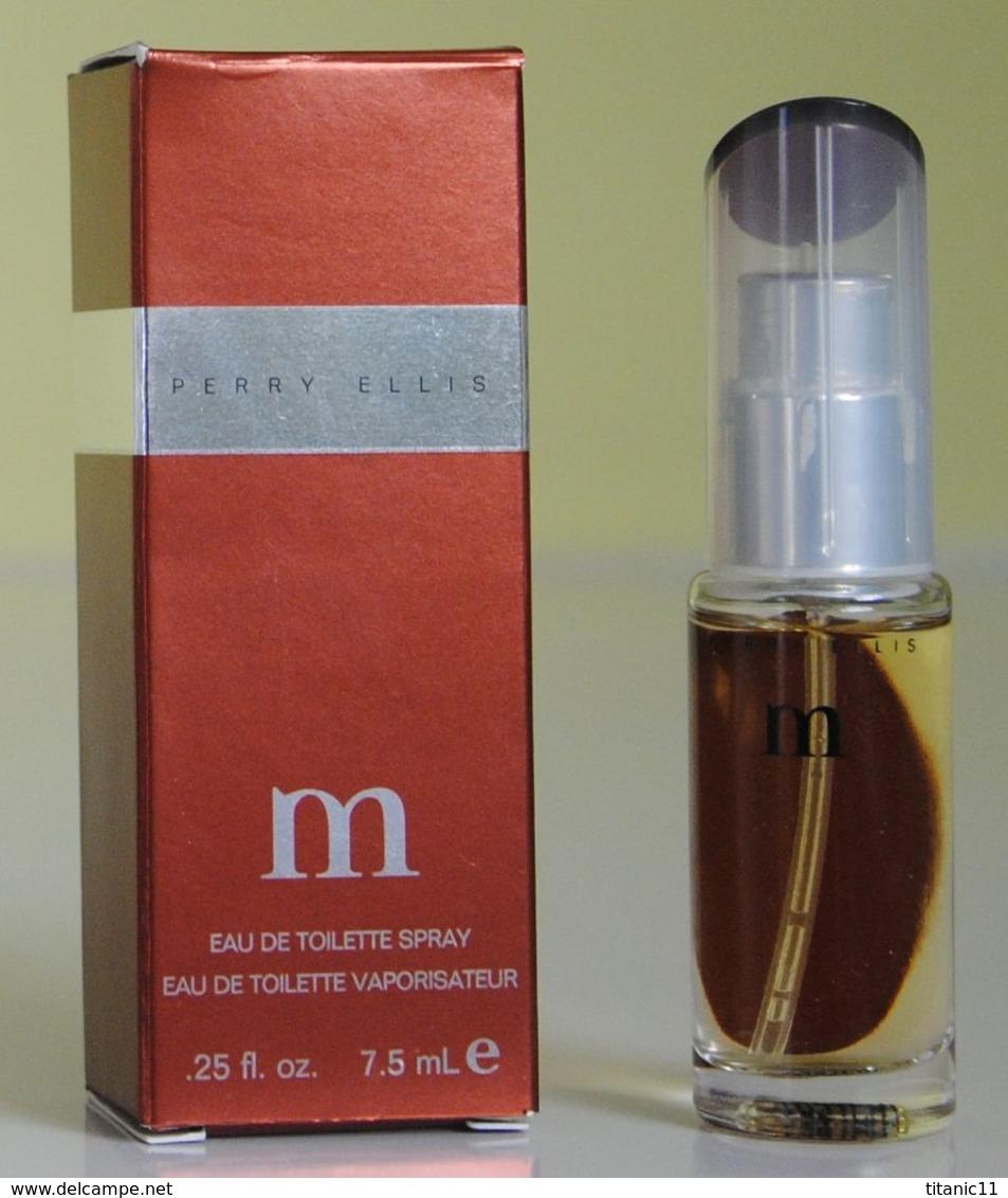 Port Gratuit - Miniature De Parfum M De Perry Ellis (import USA) - Miniatures Modernes (à Partir De 1961)