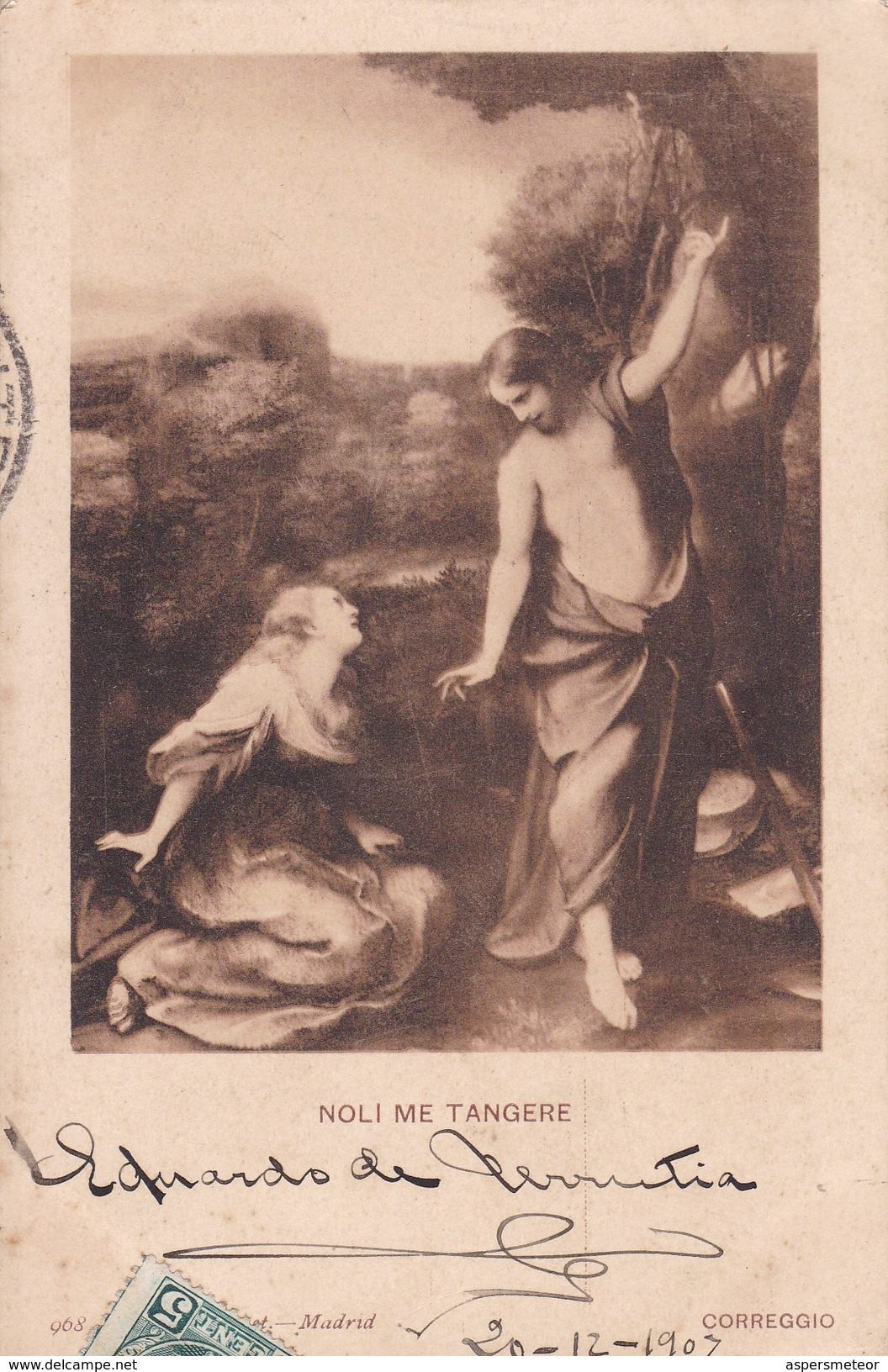 NOLI ME TANGERE. CORREGGIO. HAUSER Y MENET-CIRCULEE TO URUGUAY-TBE-BLEUP - Peintures & Tableaux