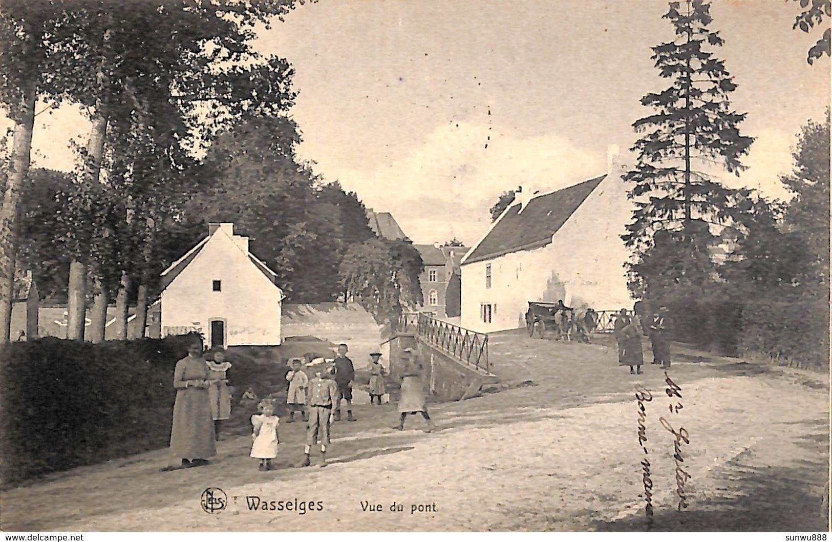 Wasseiges - Vue Du Pont (animée, Attelage Boeufs, 1910) - Wasseiges