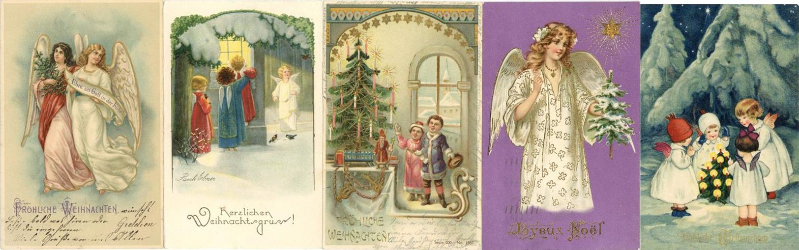 Weihnachten Album Mit Circa 200 Ansichtskarten 1900 Bis 60'er Jahre Dabei Viele Lithos I-II Noel - Christmas