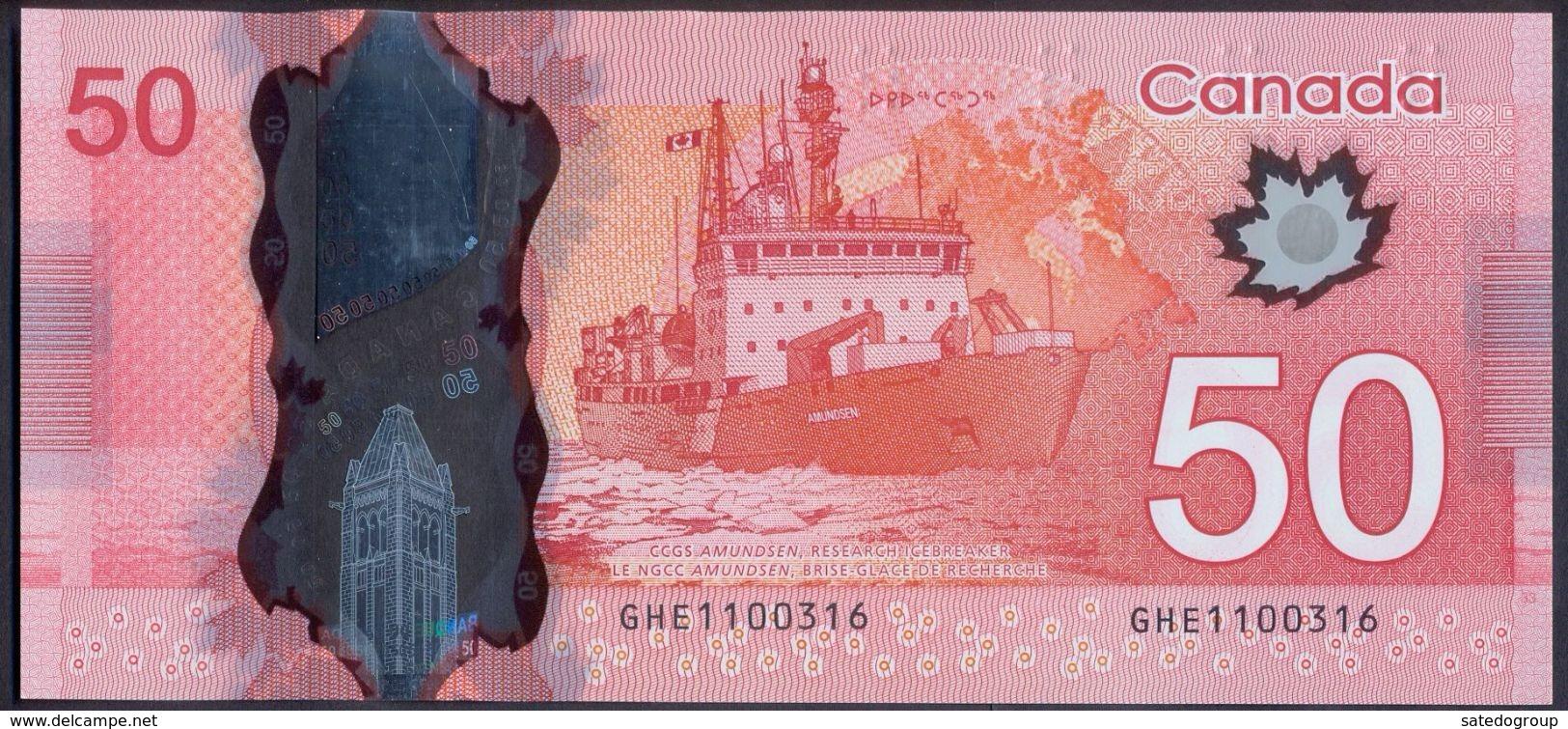 Canada 50 Dollars 2012 UNC P- 109b < Ship > - Canada