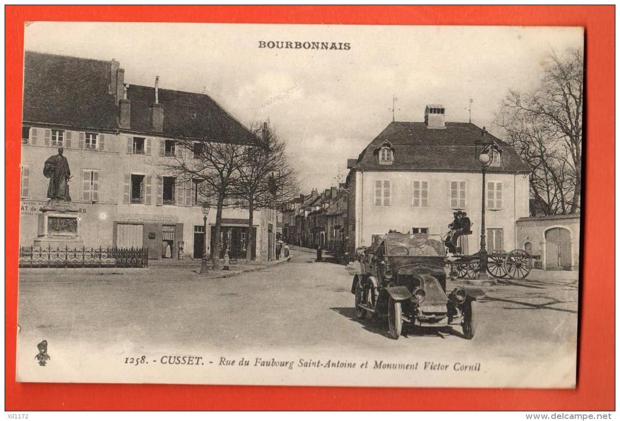 GAV-28  Cusset Rue Du Faubourg St-Antoine, Automobile. ANimé.. Circulé En 1919 - Frankrijk