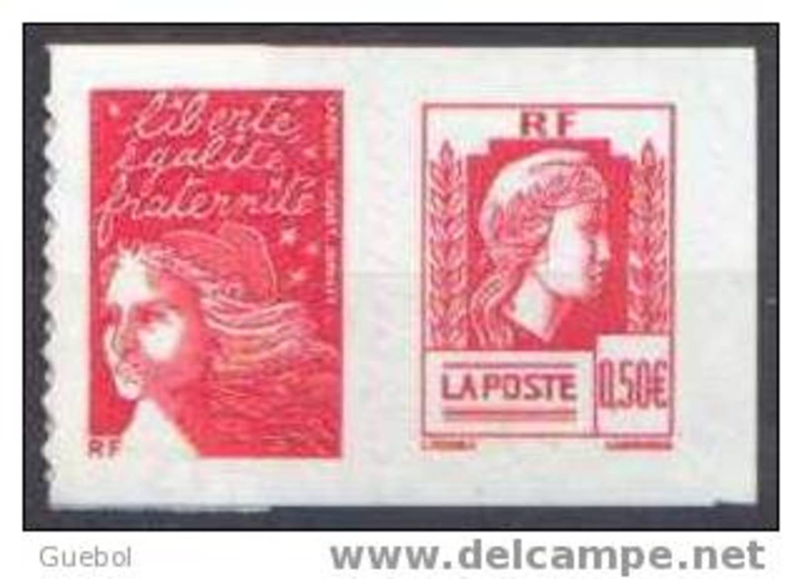 France Marianne Du 14 Juillet N° 3716 P Ou 43 P ** Autoadhésif Luquet & Dulac Pour Le 60 ème Anniversaire De La Marianne - 1997-04 Marianne Of July 14th