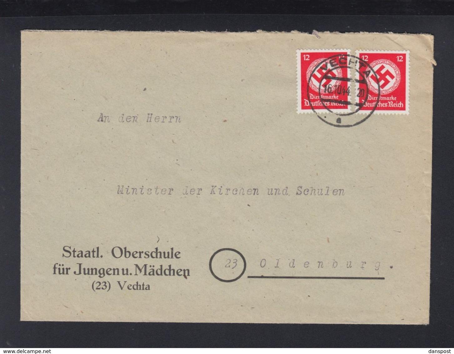 Dt. Reich Brief 1944 Oberschule Vechta - Oficial