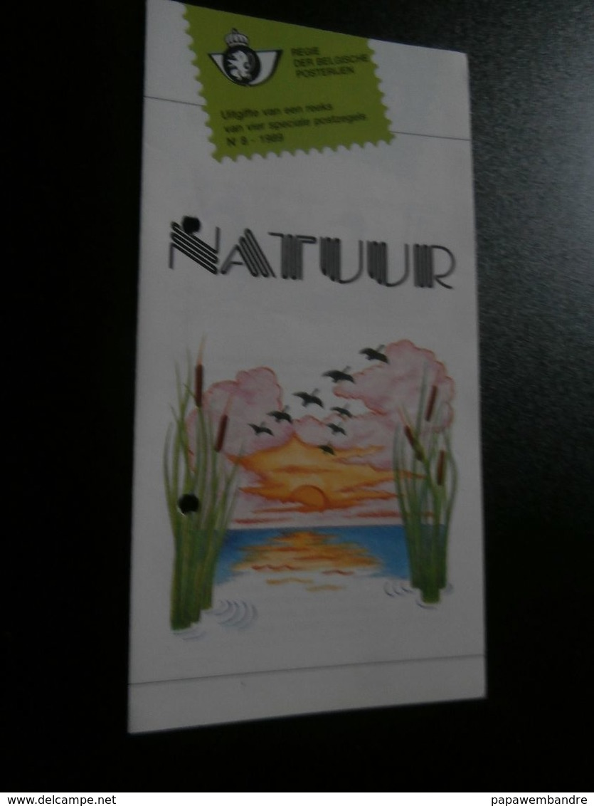 Folder Natuur (vogels) N° 8 Van 1989 (André Buzin) Zegels  2332 à 2335 - Philatélie Et Histoire Postale