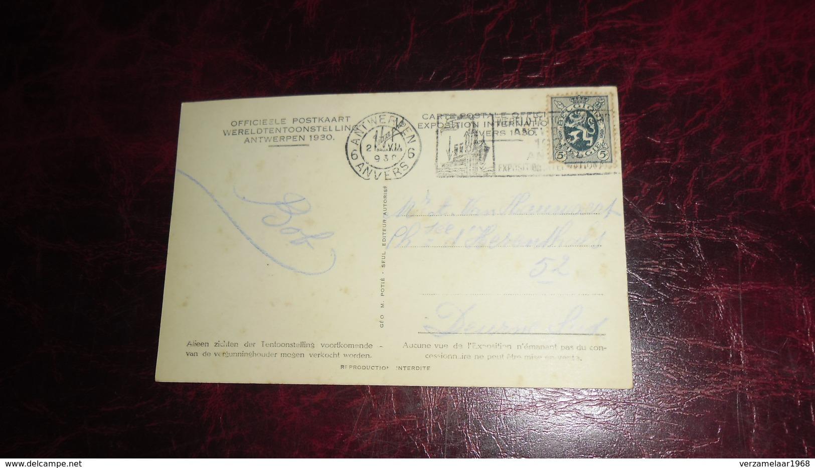 A N T W E R P E N _  EXPO  1930   _   2 SCANS   !  _    * X 489 - Antwerpen
