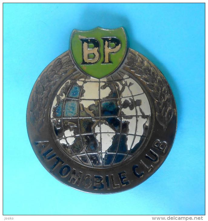 BRITISH PETROLEUM (BP) AUTOMOBILE CLUB - Old Rare Large Car Grill Badge * Grille Emblem Automobil Oil Petrole - Cars