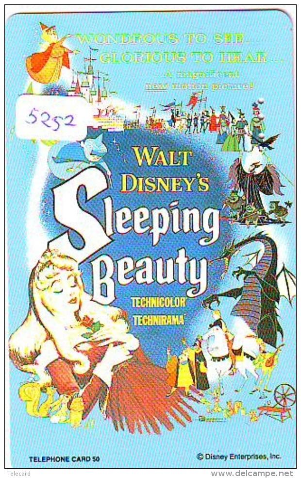 Télécarte DISNEY Japon (110-193371) SLEEPING BEAUTY  (5252) * JAPAN PHONECARD *  CINEMA FILM MOVIE KINO - Disney