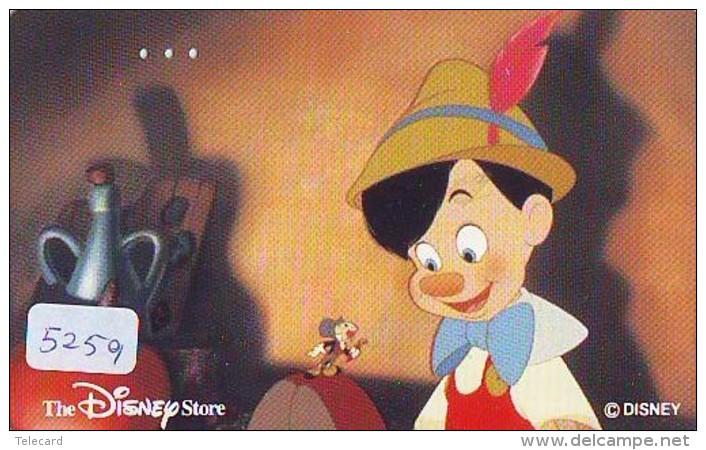 Télécarte DISNEY Japon (110-188517) PINOCCHIO  (5259) * JAPAN PHONECARD *  CINEMA FILM MOVIE KINO - Disney