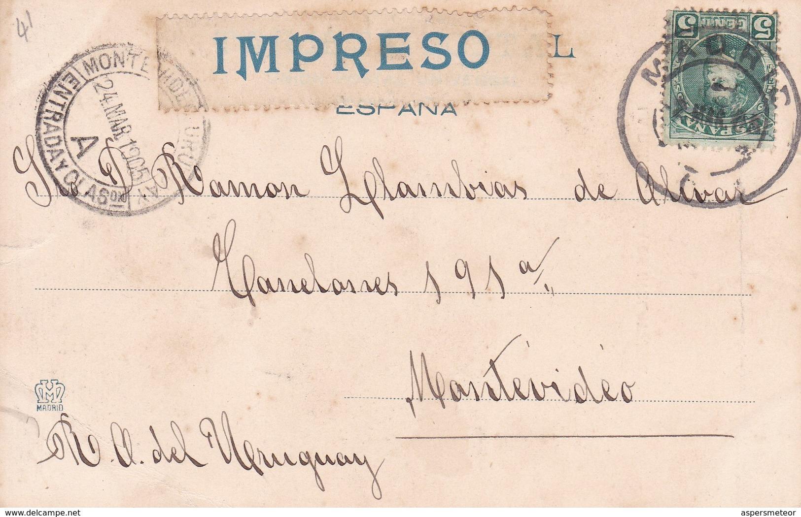 LA REINA MARIA DE INGLATERRA, MORO. HAUSER Y MENET.-CIRCULEE TO URUGUAY-TBE-BLEUP - Peintures & Tableaux