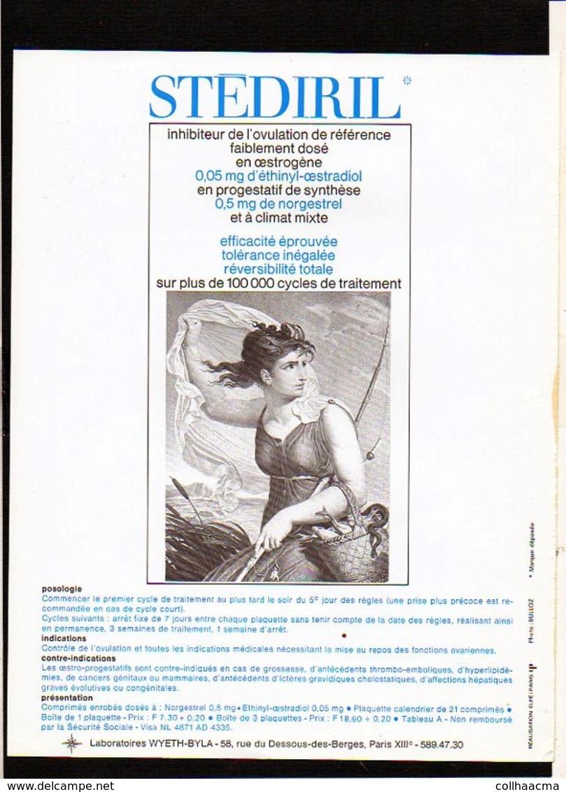 """Publicité Pharmaceutique Laboratoires Wyeth Byla / Calendrier Républicain Ou Révolutionaire """" Ventôse """" - Calendriers"""