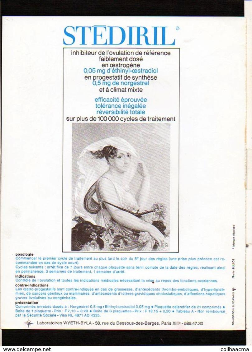 """Publicité Pharmaceutique Laboratoires Wyeth Byla / Calendrier Républicain Ou Révolutionaire """" Vendémiaire"""" - Calendriers"""