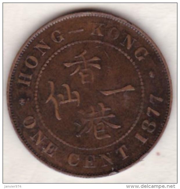 Hong Kong . 1 Cent 1877. Victoria. Bronze .  KM# 4.1 - Hong Kong
