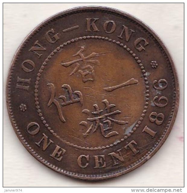 Hong Kong . 1 Cent 1866. Victoria. Bronze .  KM# 4.1 - Hong Kong