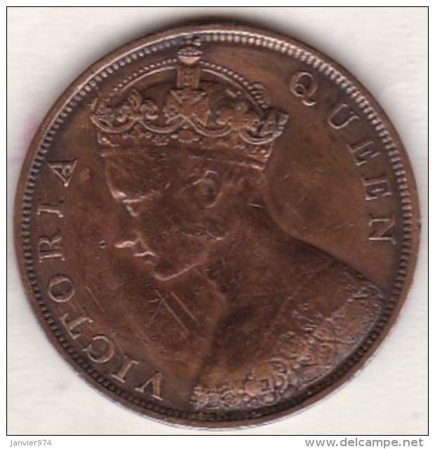 Hong Kong . 1 Cent 1866. Victoria. Bronze .  KM# 4.1 - Hongkong