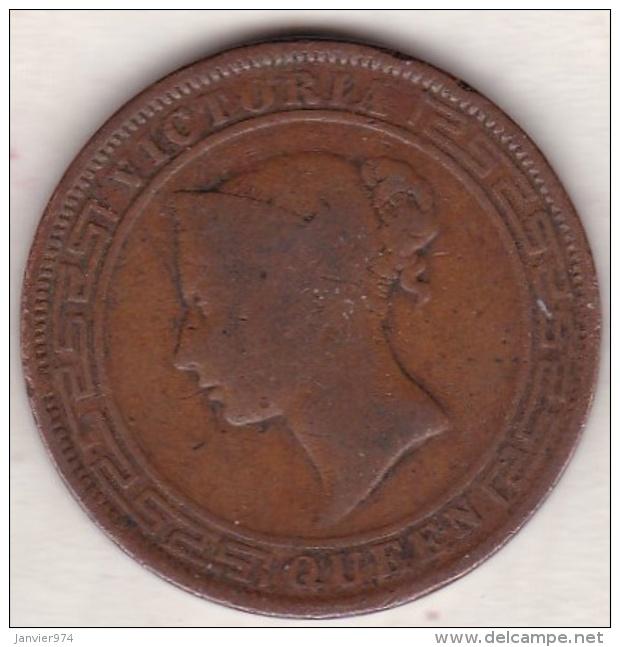 Ceylon . 5 Cents 1870. Victoria. Copper.  KM# 93 - Sri Lanka