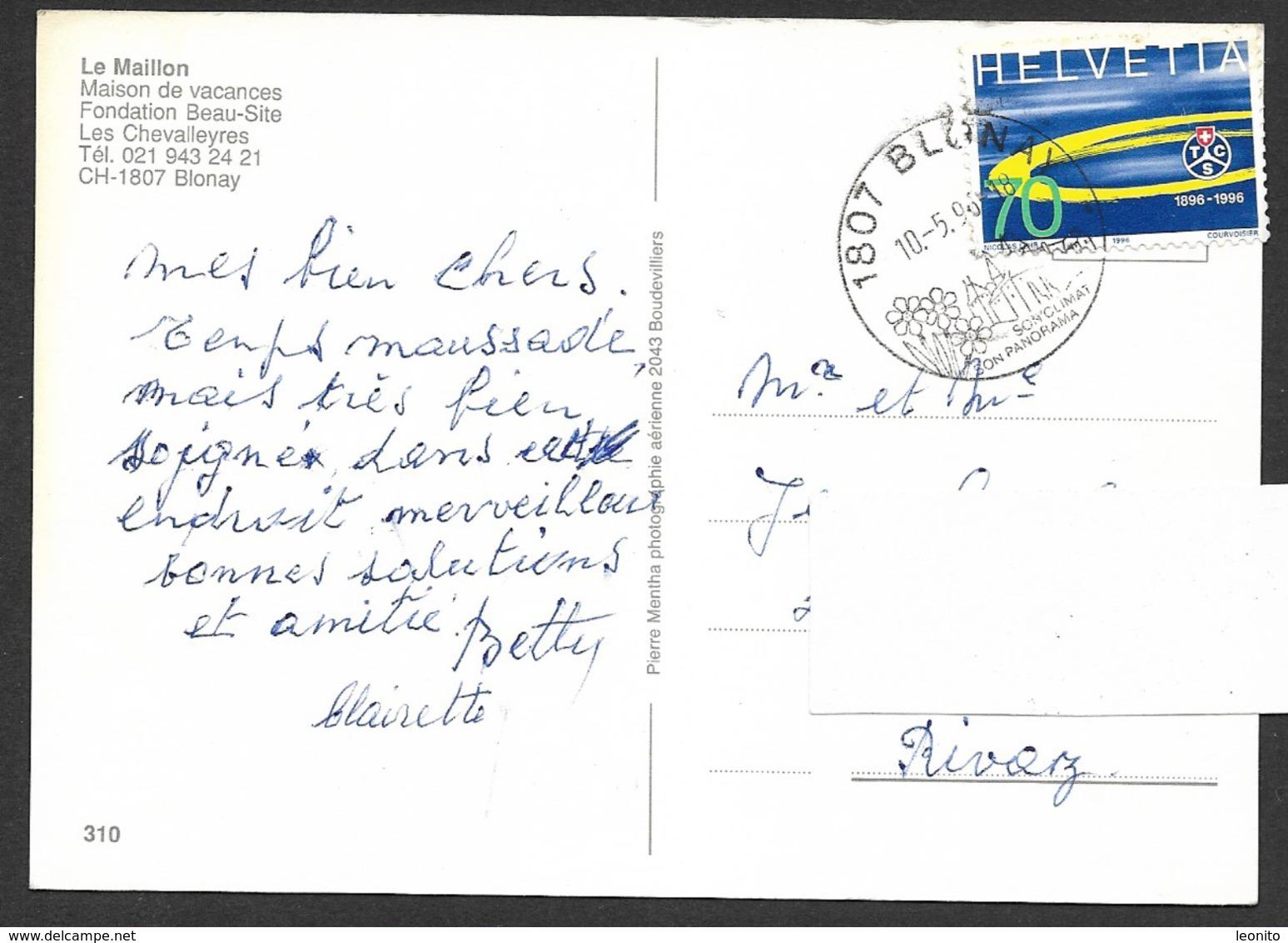 BLONAY VD Vevey Montreux Maison Vacances Fondation Beau-Site LE MAILLON 1996 - VD Vaud