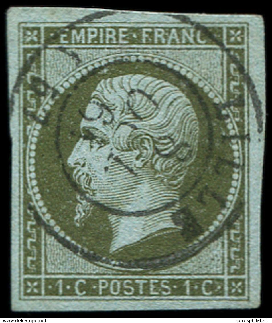 EMPIRE NON DENTELE 11a   1c. Bronze, Obl. Càd T15 LILLE, TTB - 1853-1860 Napoléon III