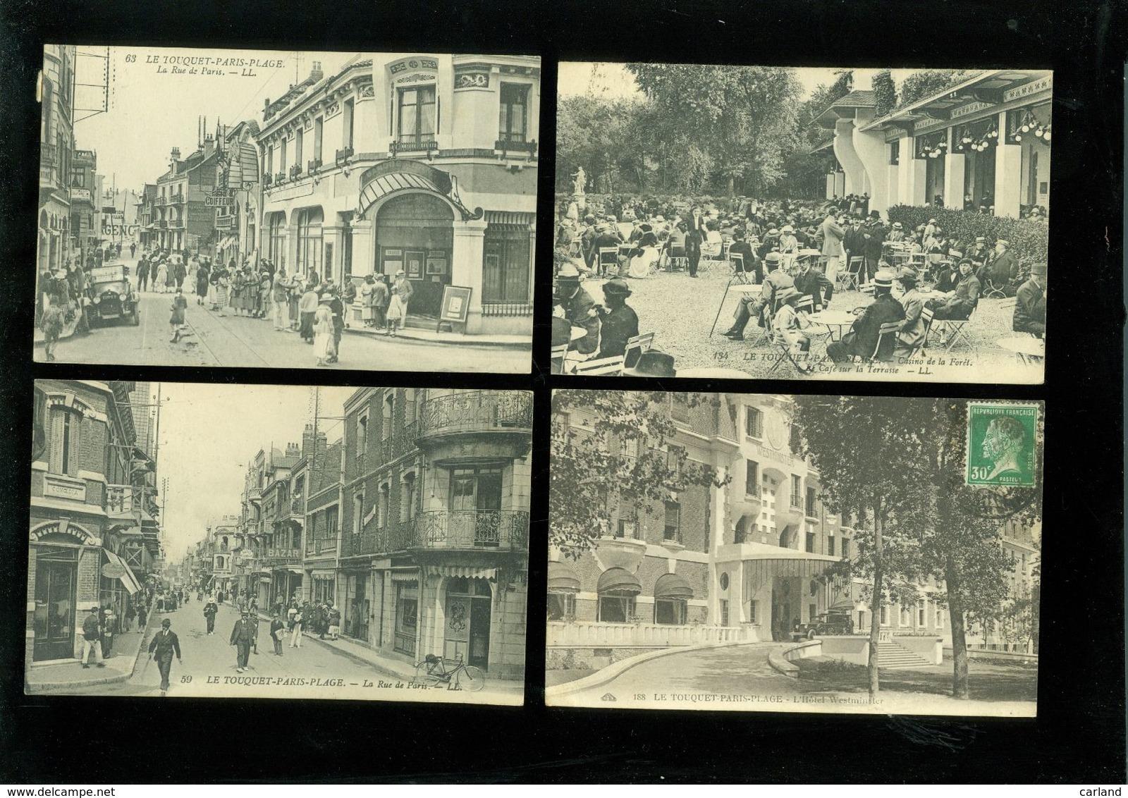 Beau Lot De 50 Cartes Postales De France Le Touquet - Paris - Plage       Mooi Lot Van 50 Postkaarten Van Frankrijk - 5 - 99 Cartes