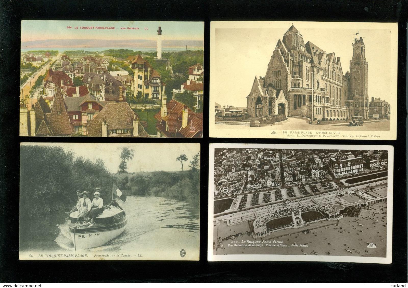 Beau Lot De 50 Cartes Postales De France Le Touquet - Paris - Plage       Mooi Lot Van 50 Postkaarten Van Frankrijk - Cartes Postales