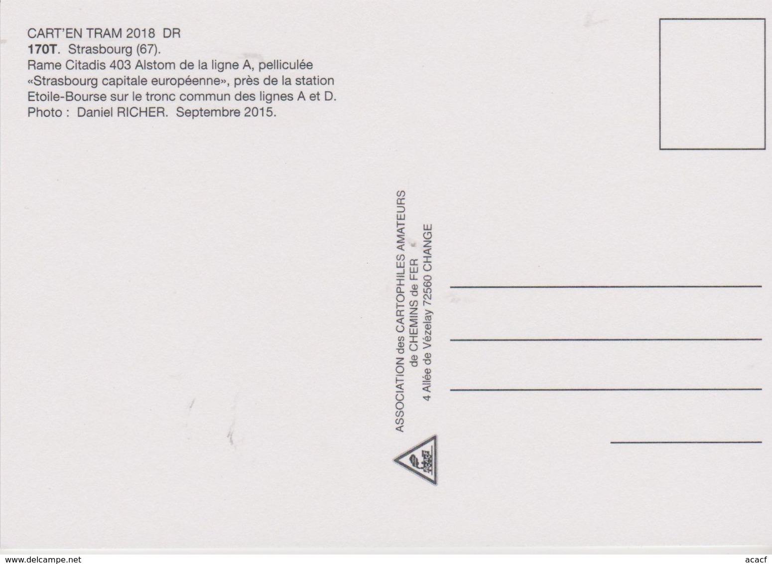 "Tramway Citadis 402 Alstom Avec Livrée ""européenne"", à Strasbourg (67)  - - Tramways"