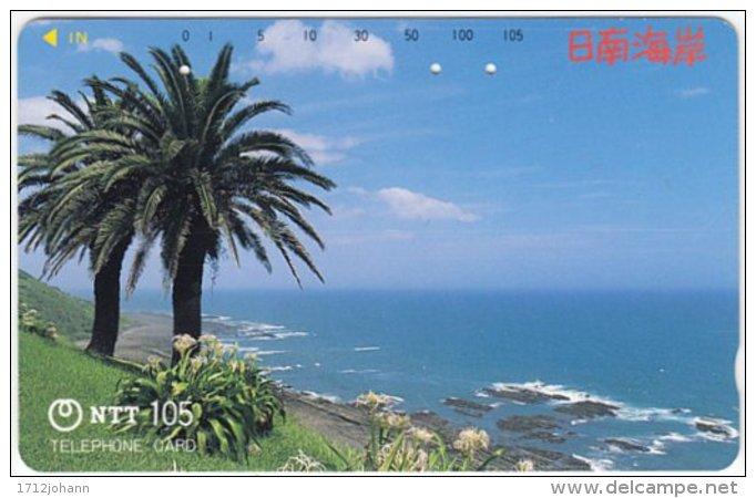 JAPAN F-695 Magnetic NTT [390-338] - Landscape, Coast - Used - Japan
