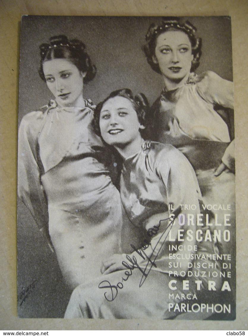 SORELLE LESCANO   AUTOGRAFO ORIGINALE - Autografi