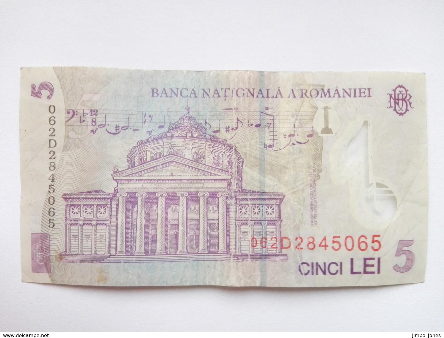 5 Leu Banknote Rumänien 2005 (2006) (sehr Schön Bis Vorzüglich) - Romania