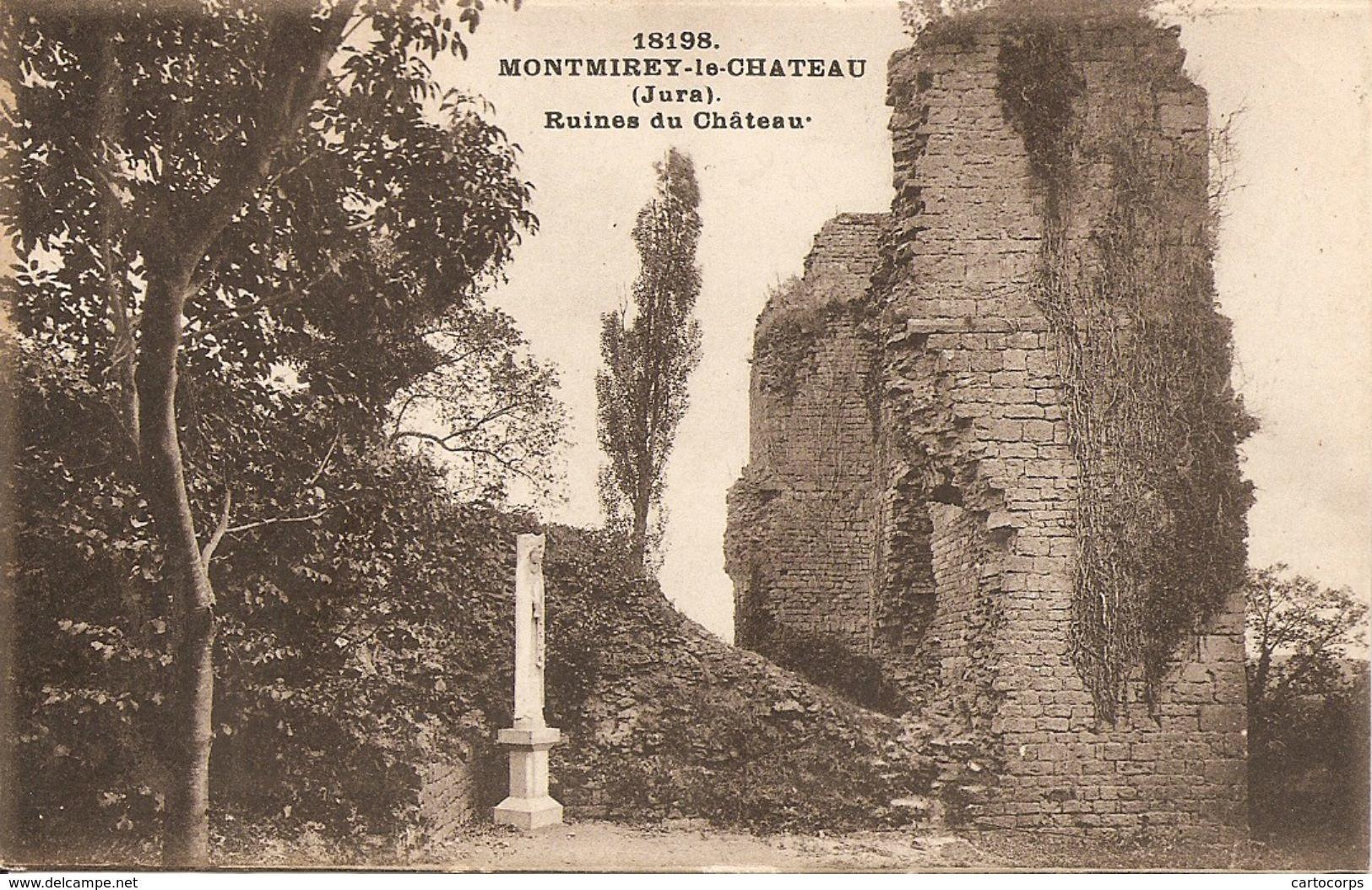 39 - Montmirey-le-Château - Les Ruines Du Château - Frankrijk
