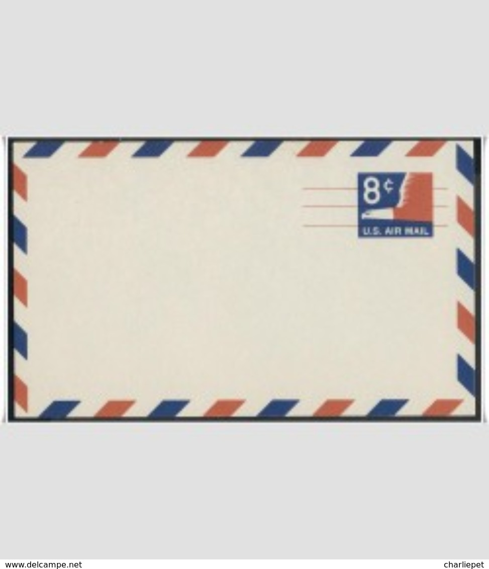 US Scott # UXC9 8¢ Eagle Airmail Precanceled Postal Card MNH - 1961-80