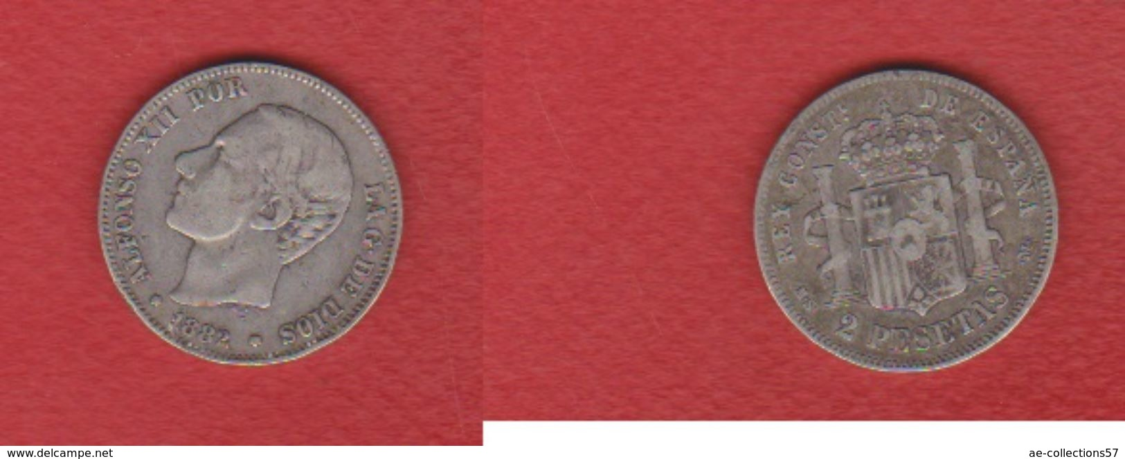 Espagne / 2 Pesetas 1882 / TB+ - [ 1] …-1931 : Royaume