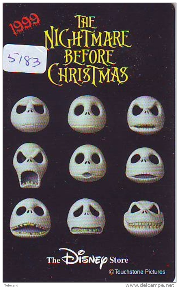 Télécarte Japon * 110-208294 * THE DISNEY STORE (5183) MERRY CHRISTMAS * WEIHNACHTEN * TELEFONKARTE * PHONECARD JAPAN * - Disney