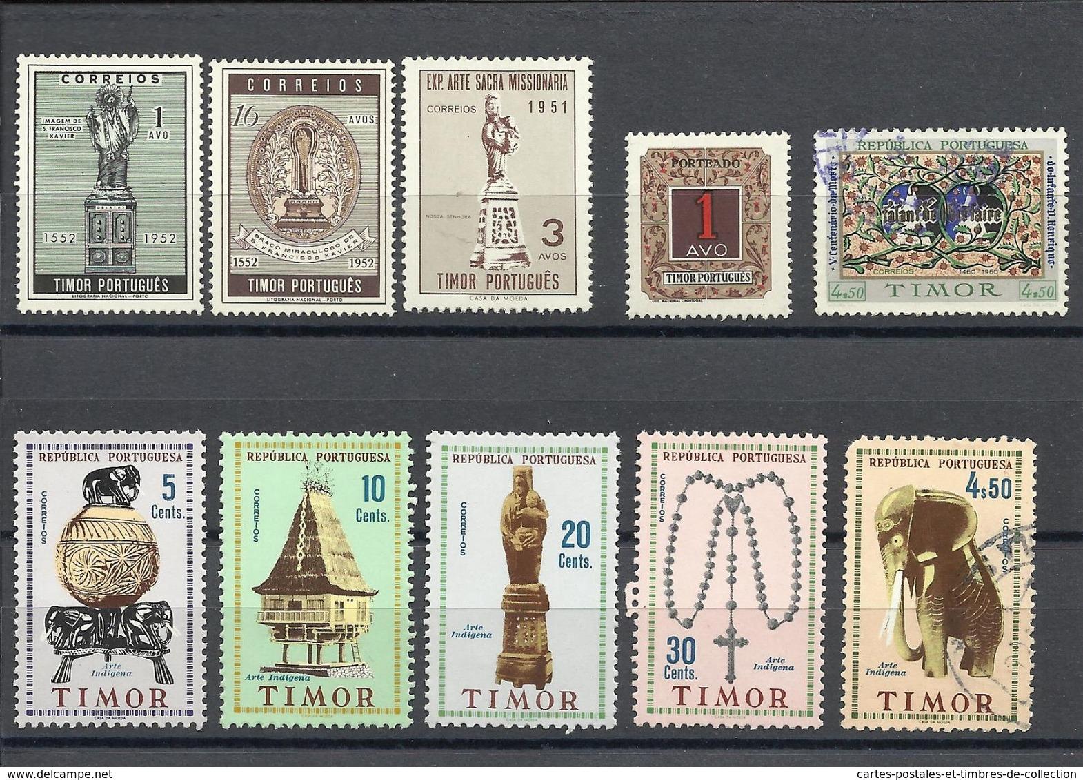 TIMOR , Lot De 10 Timbres Neufs & Oblitérés , Divers Années - Timor Oriental