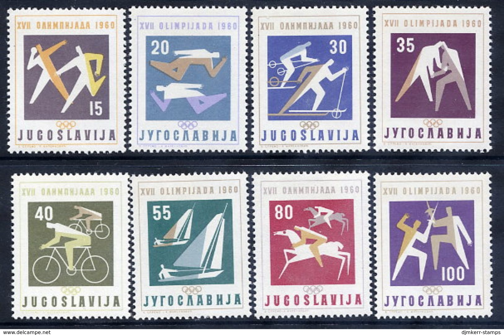 YUGOSLAVIA 1960 Olympics Games  MNH / **.  Michel 909-16 - 1945-1992 Socialist Federal Republic Of Yugoslavia