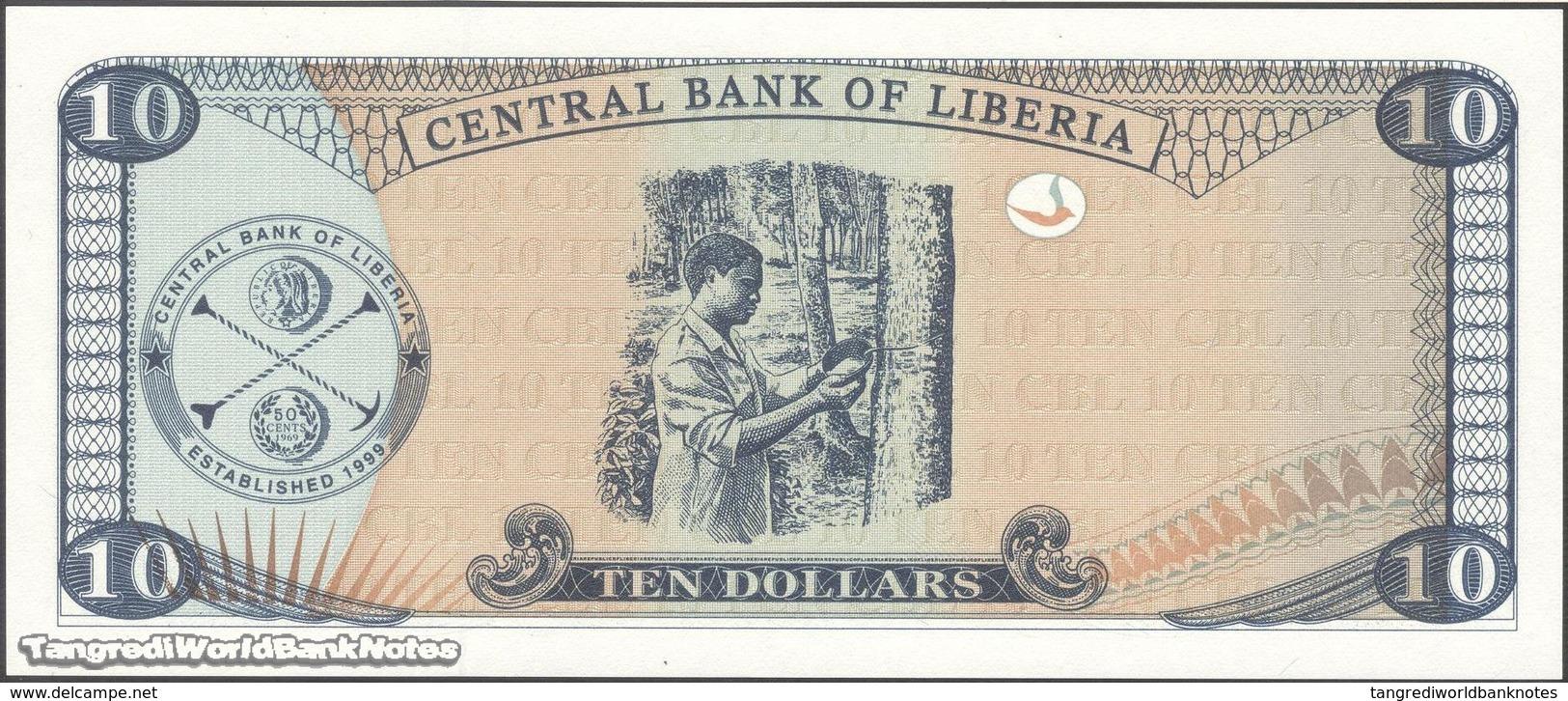 TWN - LIBERIA 27e - 10 Dollars 2009 Prefix BE UNC - Liberia