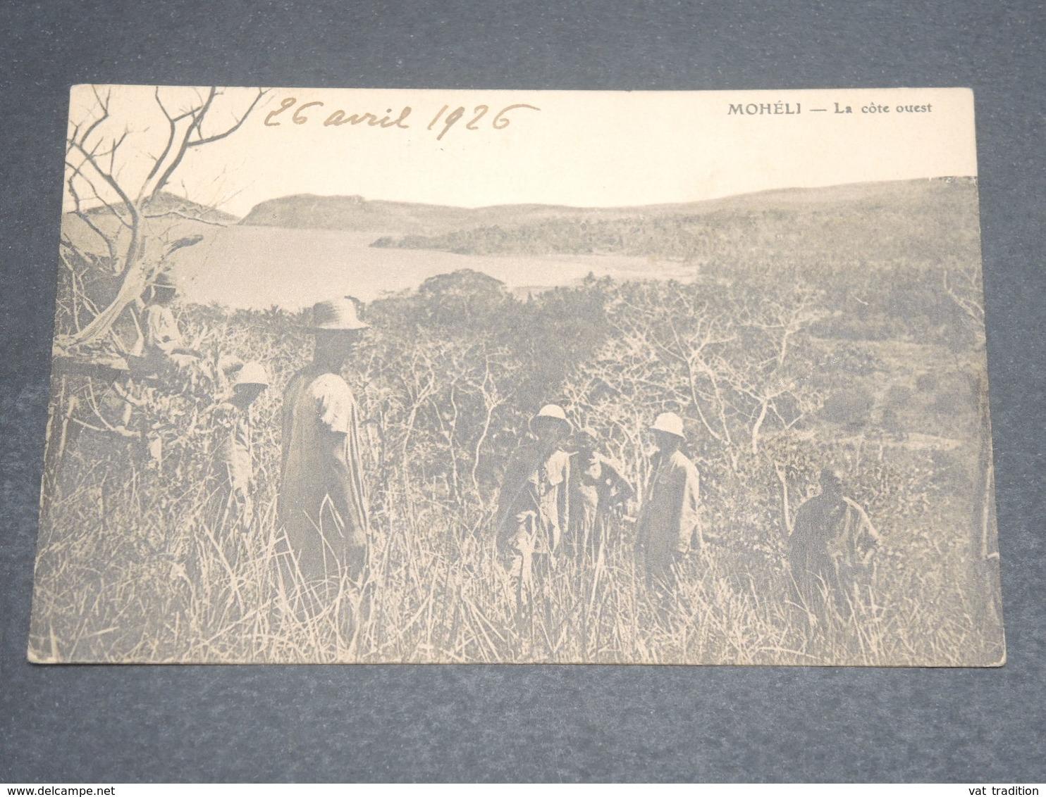 COMORES -  Carte Postale De Mohélie , Voyagé Pour Paris En 1926 - L 12344 - Comores