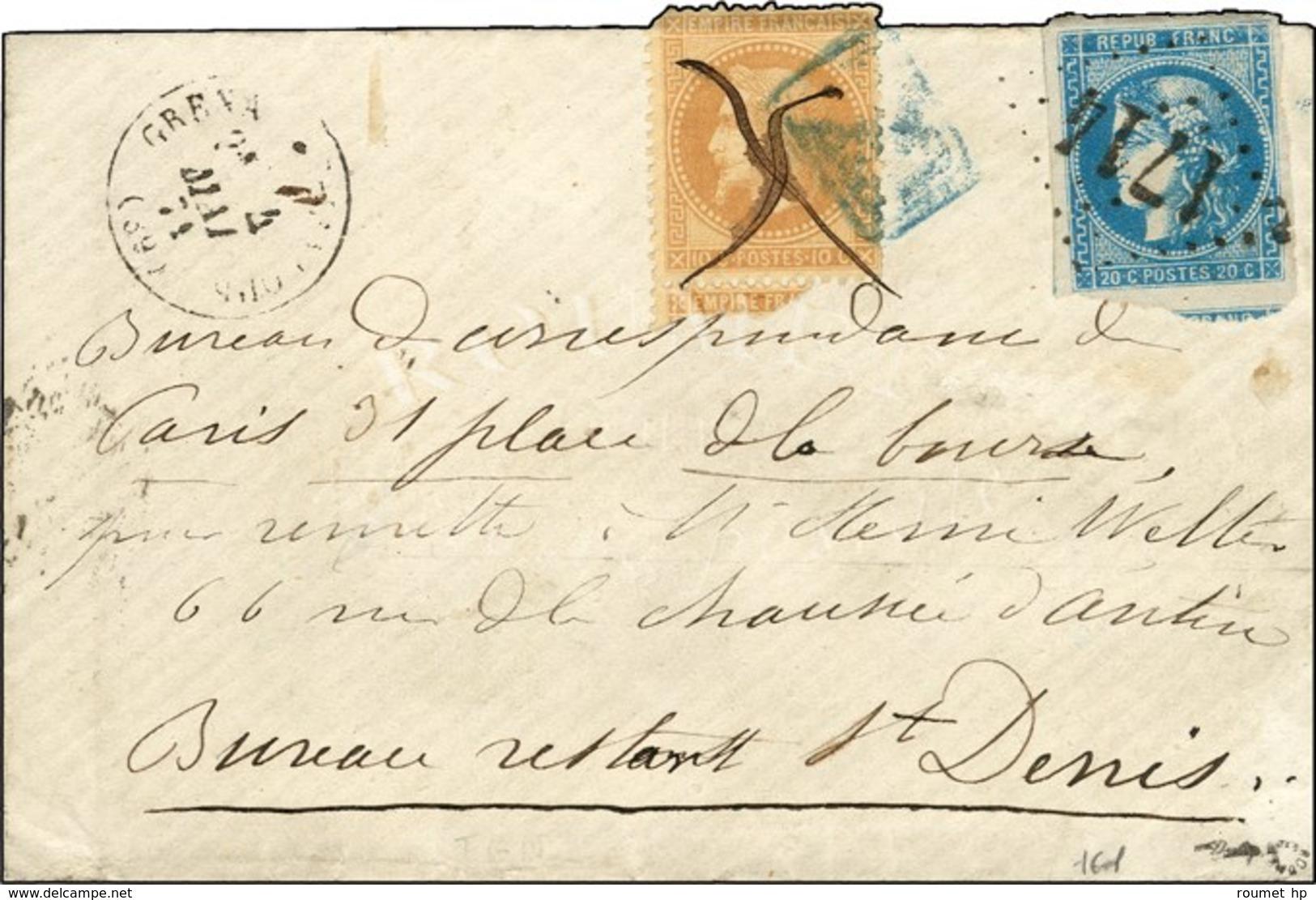 Lettre De Grenade-s-Adour Expédiée à Paris Via La Poste Restante à Saint Denis Par Le Bureau De Correspondance, Remise D - Marcophilie (Lettres)