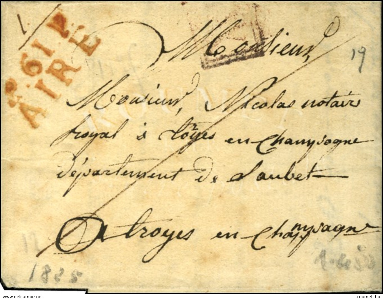 P.61.P. / AIRE (R). 1825. - TB / SUP. - R. - Marcophilie (Lettres)