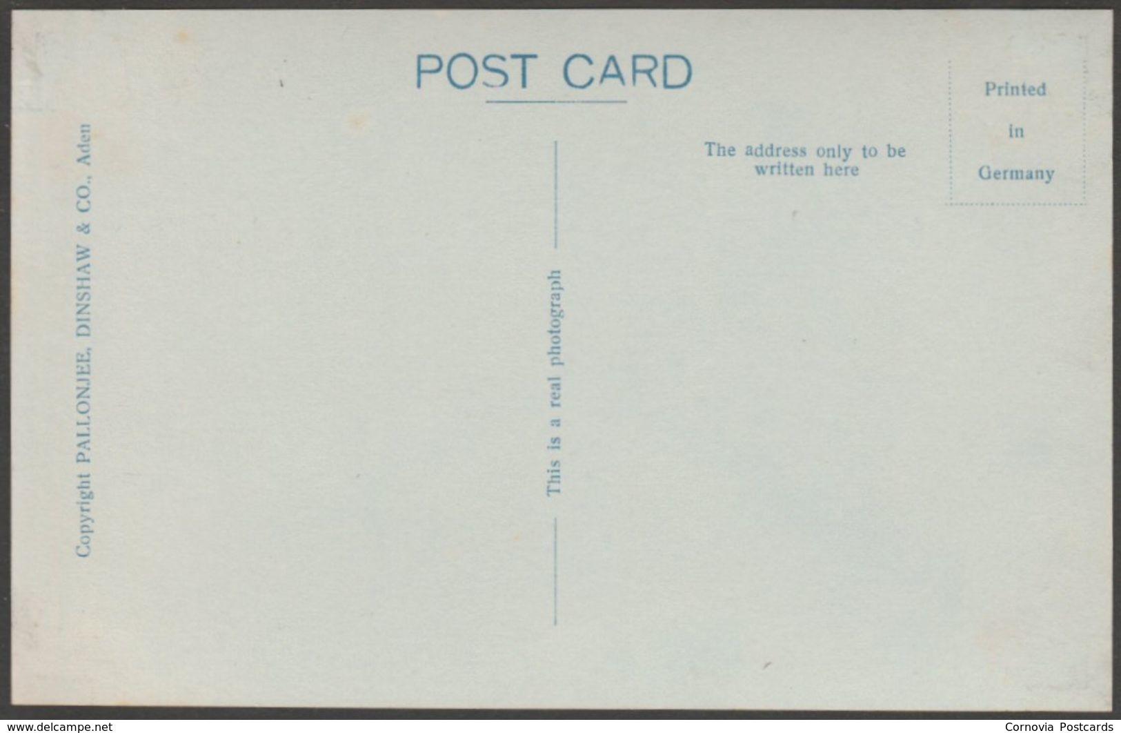 Esplanade Road, Crater, Aden, C.1920 - Pallonjee, Dinshaw & Co RP Postcard - Yemen