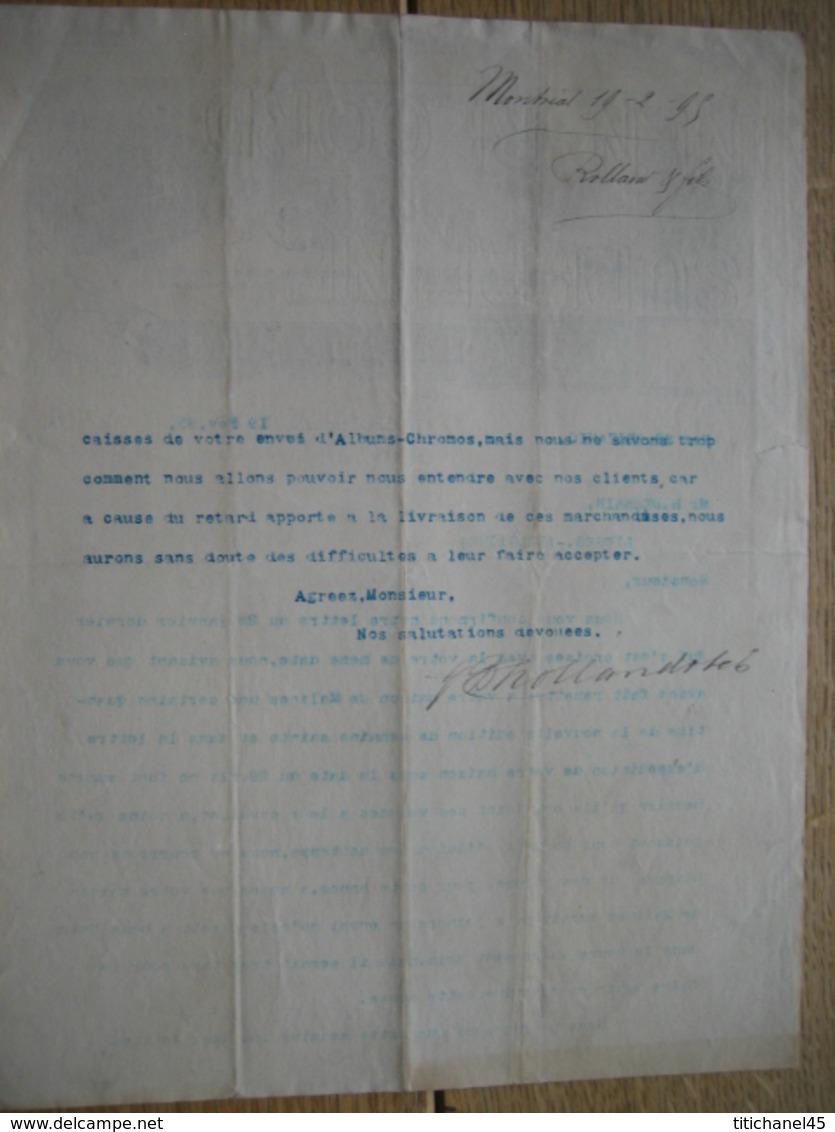 Lettre Illustrée 1895 MONTREAL -  J. B. ROLLAND & Fils - Libraires - Editeurs - Papetiers - Canada