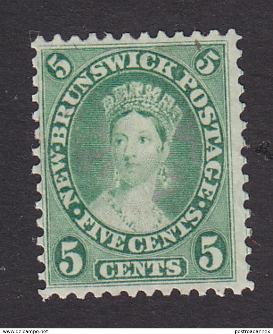 New Brunswick, Scott #8, Mint No Gum, Victoria, Issued 1860 - Unused Stamps