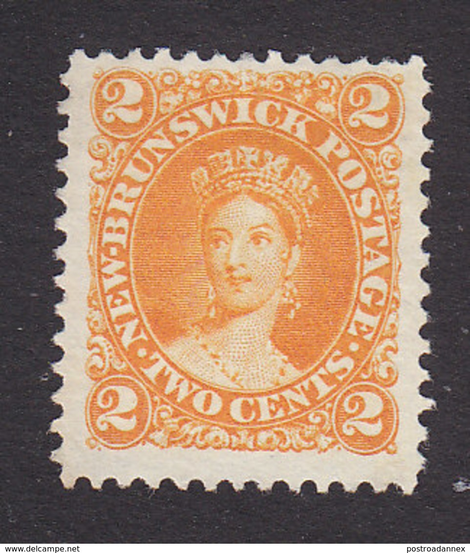 New Brunswick, Scott #7c, Mint No Gum, Victoria, Issued 1863 - Unused Stamps
