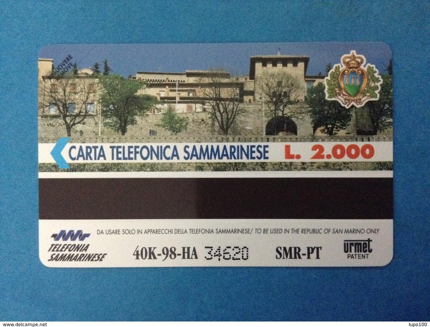 SAN MARINO SCHEDA TELEFONICA NUOVA NEW PHONE CARD 40 - SEGNI ZODIACALI GEMELLI - San Marino